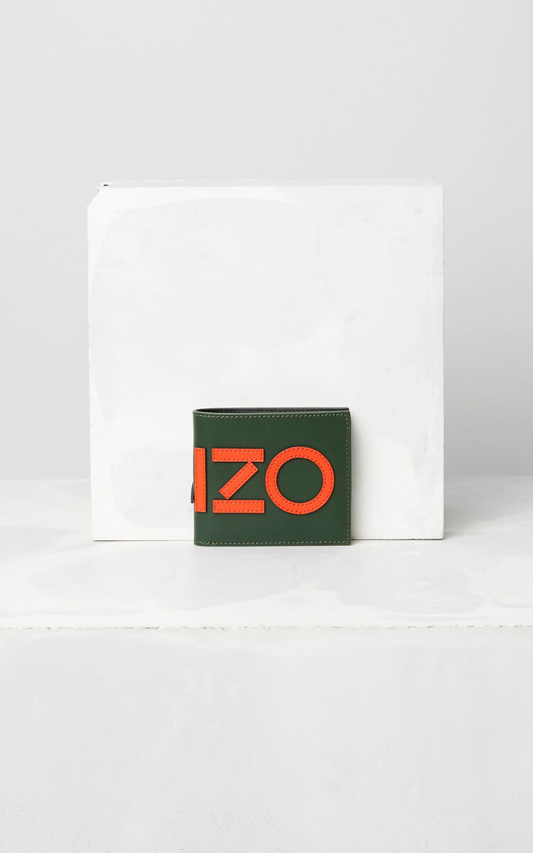 DARK KHAKI Colorblock KENZO Wallet  for women