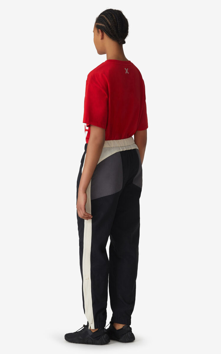 BLACK KENZO Sport jogging trousers for men