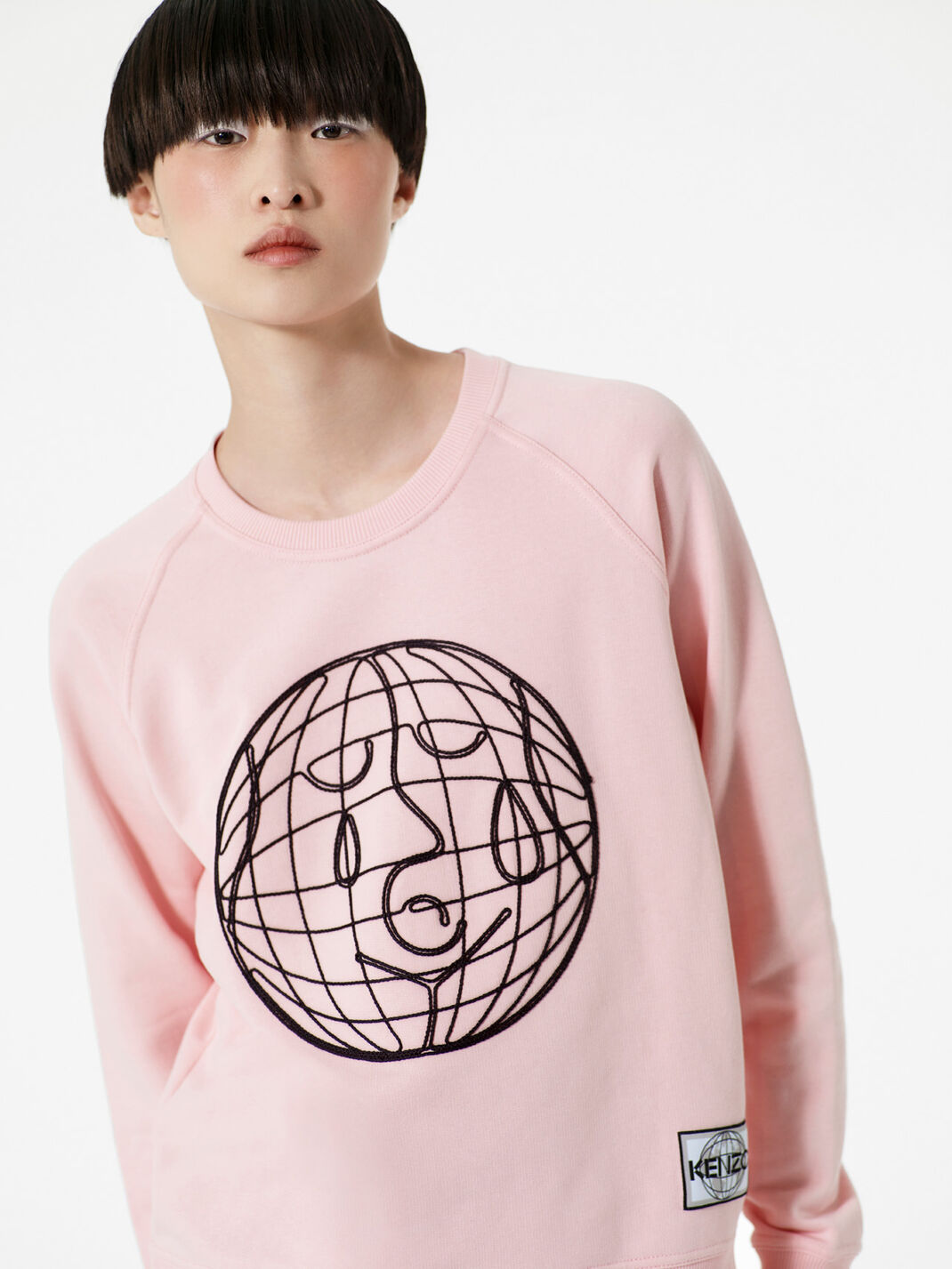 FADED PINK Peace World' Sweatshirt  for women KENZO