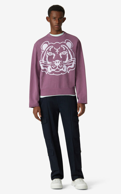 BLACKCURRANT K-Tiger sweatshirt for men KENZO