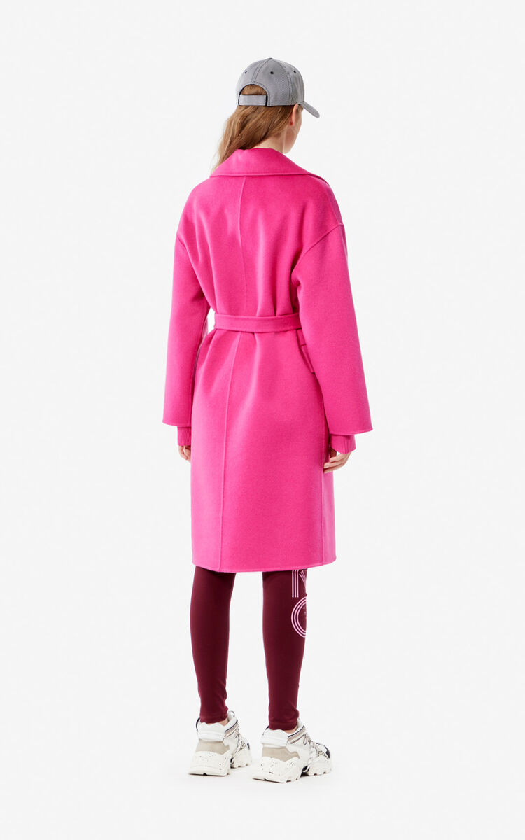 ROSE Wool and cashmere coat for women KENZO