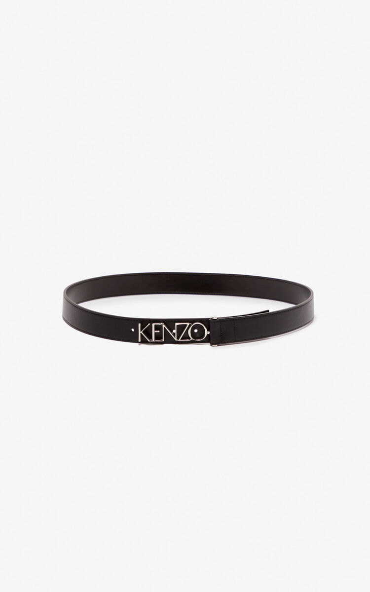 BLACK Kenzo logo belt for global.none
