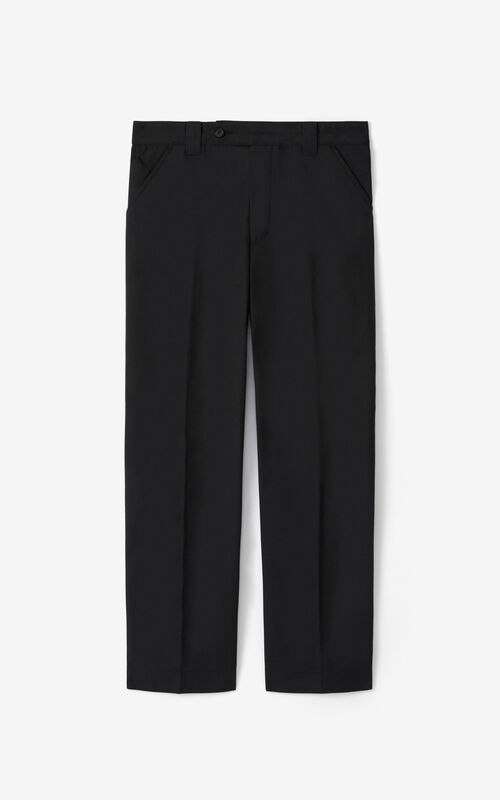 BLACK Cropped trousers for unisex KENZO