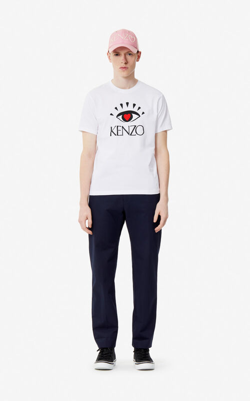 WHITE 'Cupid' T-shirt for men KENZO