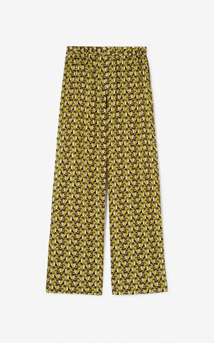 BORDEAUX 'Running Tiger' trousers for global.none KENZO