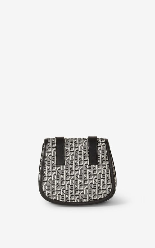 MISTY GREY Small jacquard Courier messenger bag for unisex KENZO