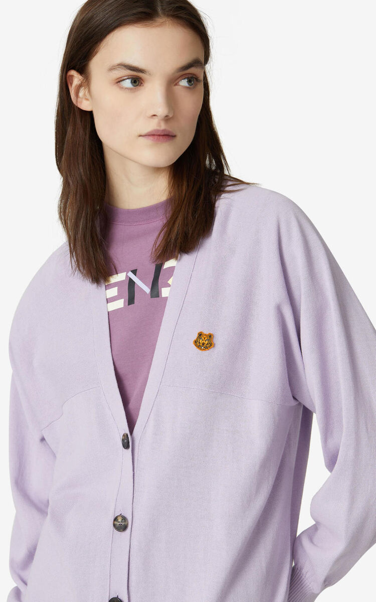 WISTERIA Tiger Crest oversize cardigan for women KENZO