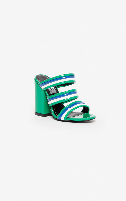 08ef30f0 ... GRASS GREEN Ana high-heeled mules for unisex KENZO