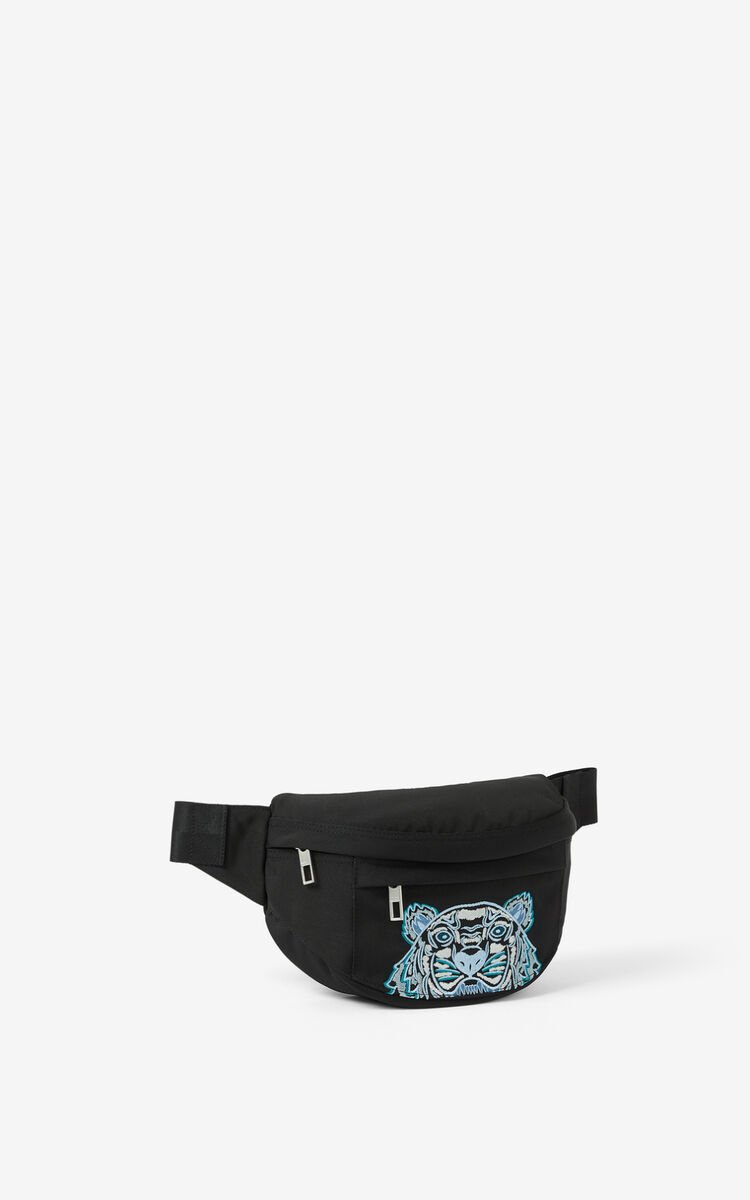 BLACK Canvas Kampus Tiger belt bag for unisex KENZO