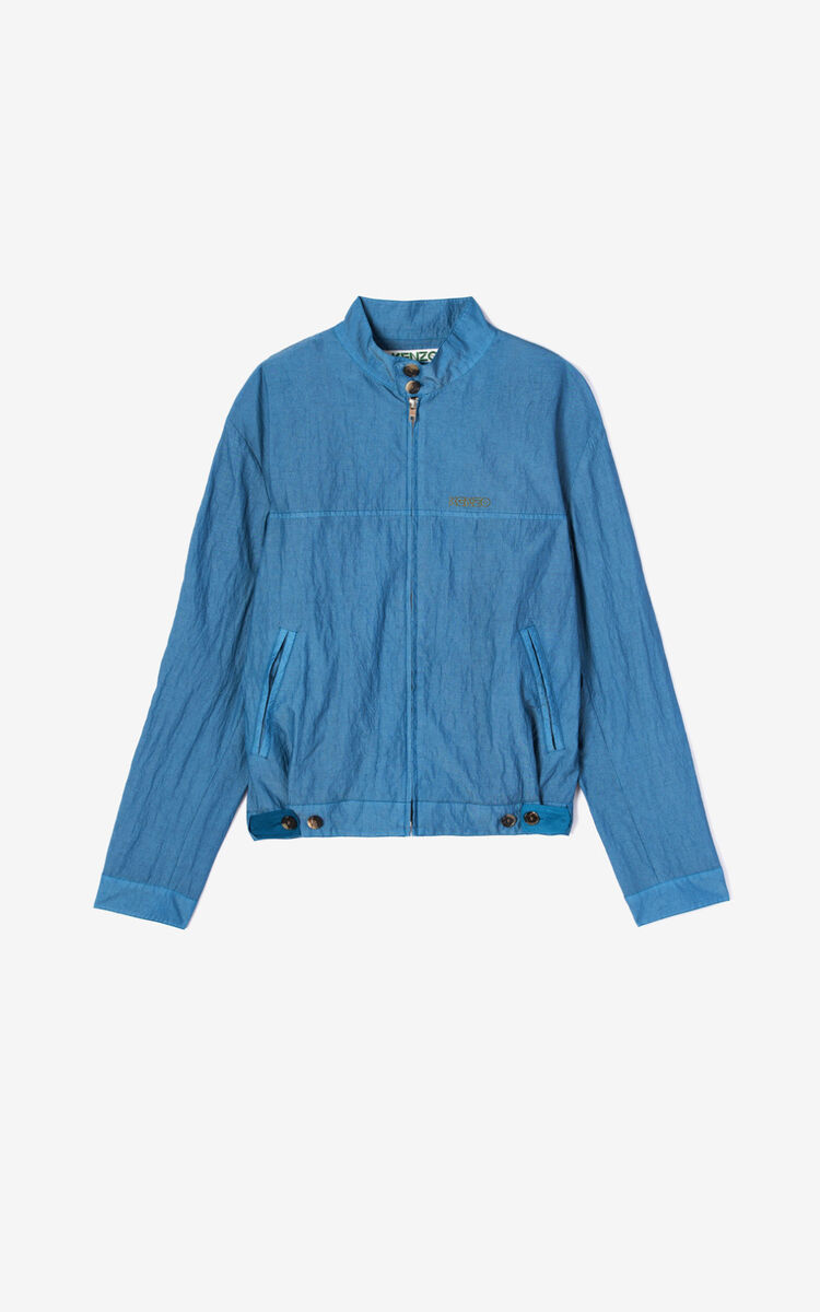 TURQUOISE Zipped jacket  for men KENZO