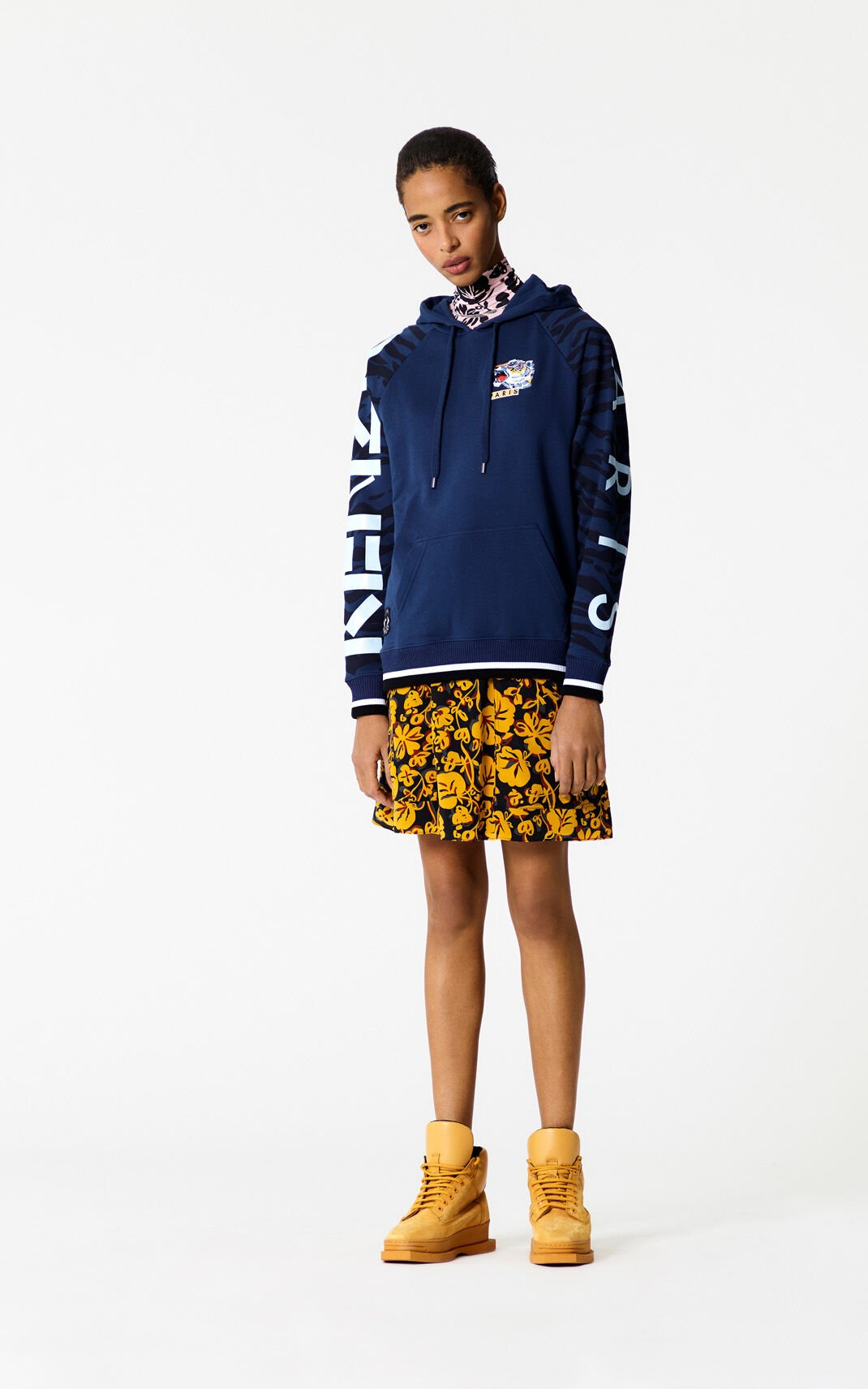 MIDNIGHT BLUE Vintage Tiger hoodie for women KENZO