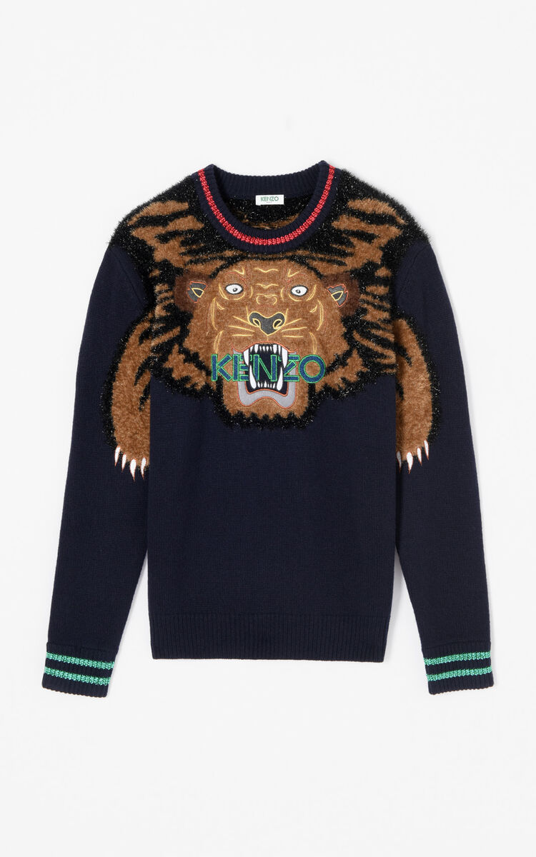 INK 'Holiday Capsule Collection' embroidered Tiger wool jumper for men KENZO