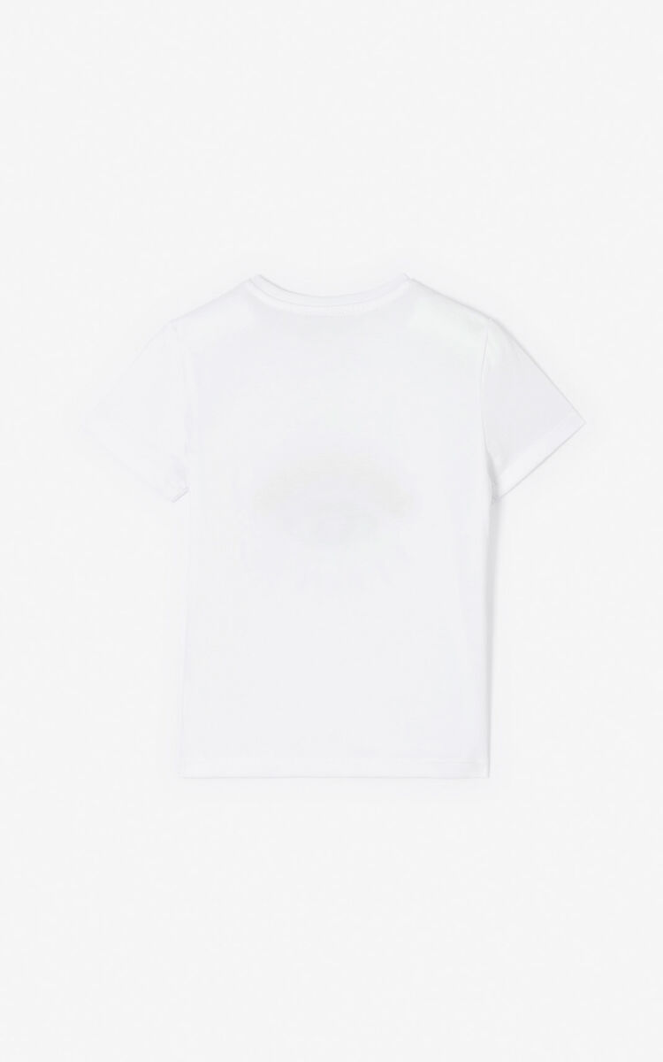 WHITE 'Cali Party' Eye T-shirt for women KENZO