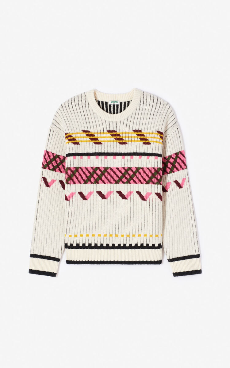 ECRU Chunky knit 'Capsule Expedition' jumper for women KENZO
