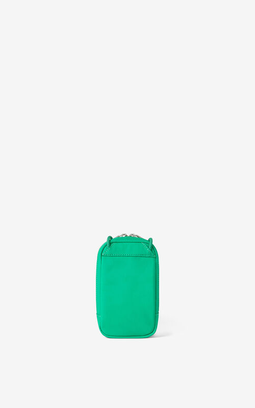 GREEN KENZO x KANSAIYAMAMOTO phone pouch with strap for unisex