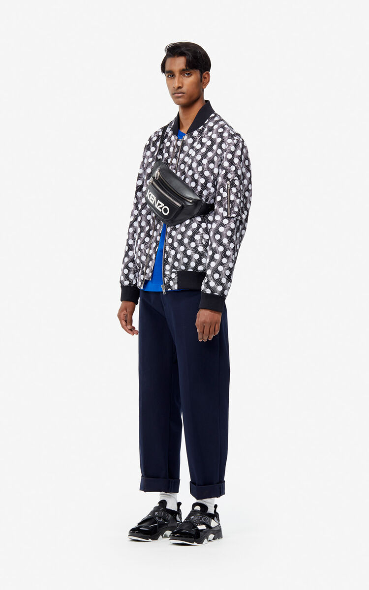 BLACK 'Wavy Dots' bomber jacket for men KENZO