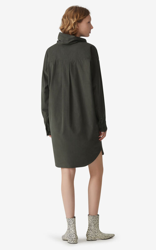 FERN Cowl neck dress for women KENZO
