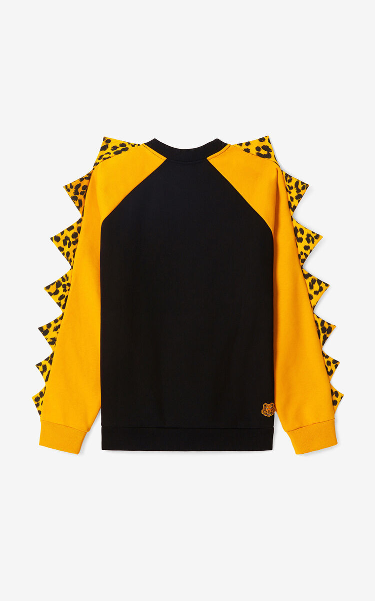 BLACK KENZO x KANSAIYAMAMOTO 'Smiling Tiger' oversize sweatshirt for men