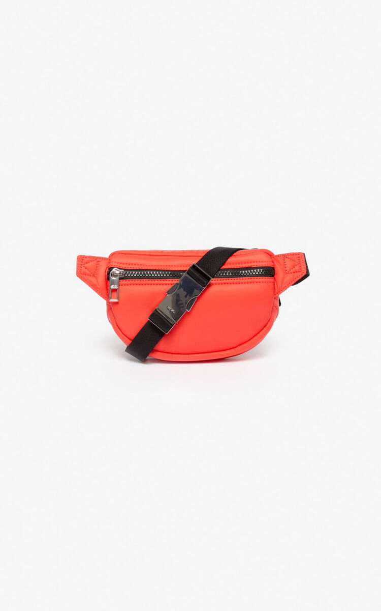MEDIUM RED Mini bumbag with embroidered Tiger for unisex KENZO