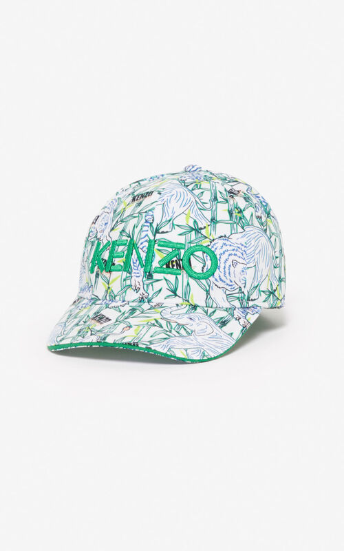 WHITE 'Disco Jungle' cap  for men KENZO