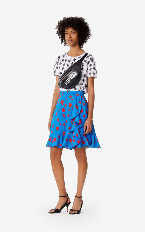 03827646b998 ... COBALT 'Roses' ruffled skirt for women KENZO. '