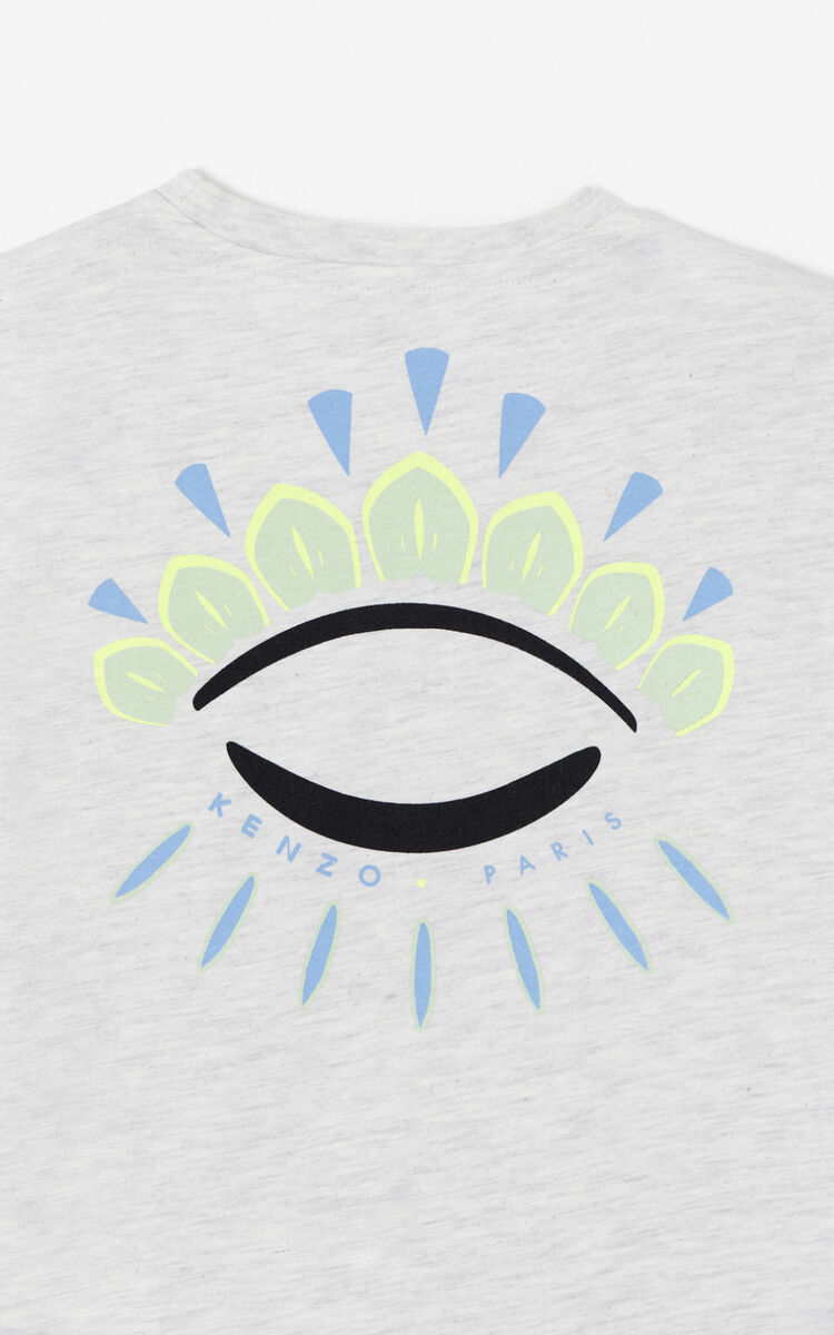 PALE GREY 'Cali Party' Eye T-shirt for unisex KENZO