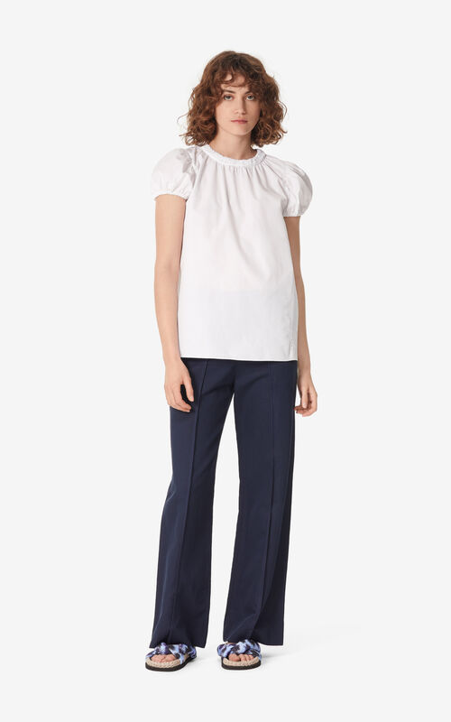 WHITE Smock top for women KENZO