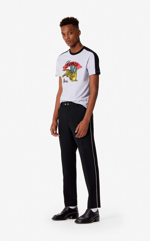 BLACK Straight-leg trousers for men KENZO