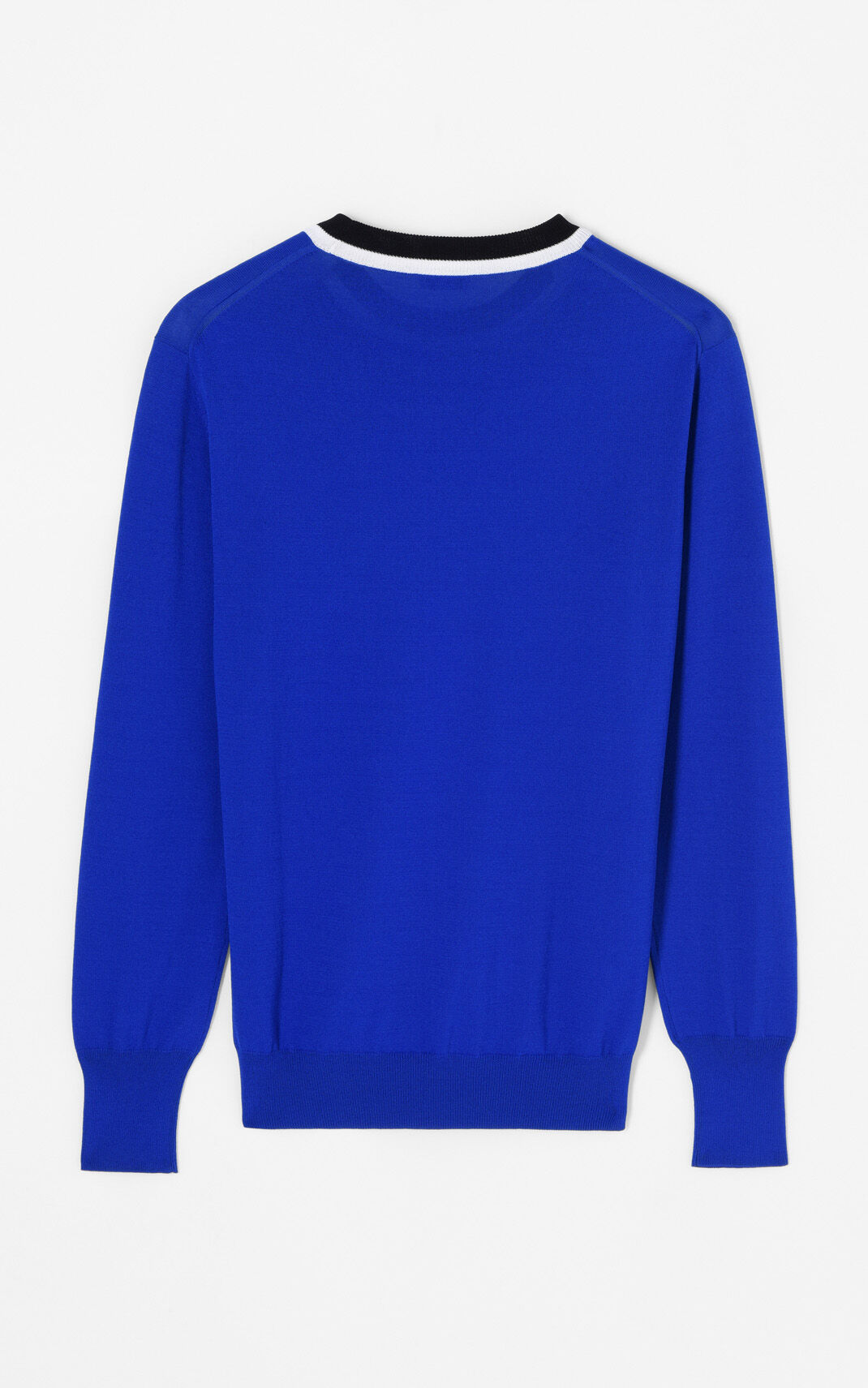 FRENCH BLUE Colourblock jumper for men KENZO