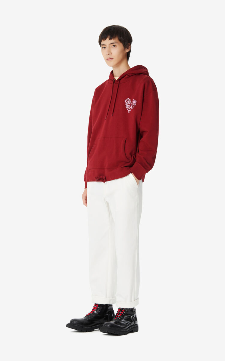 BORDEAUX 'Valentine's Day Capsule' 'Lucky Star' hooded sweatshirt for men KENZO