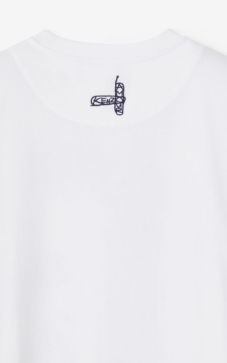 WHITE Oversize T-shirt for women KENZO