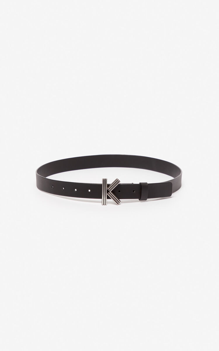 BLACK Thin K-Bag belt for unisex KENZO