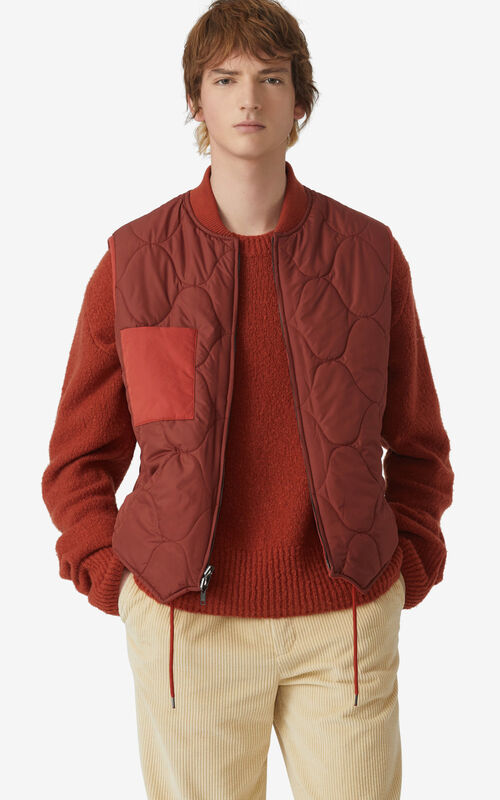 COGNAC Reversible body warmer for men KENZO