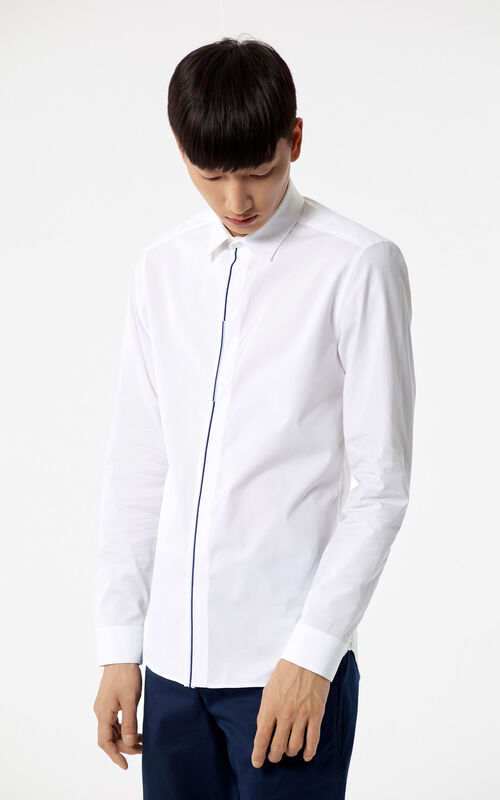 WHITE Slim shirt for global.none KENZO