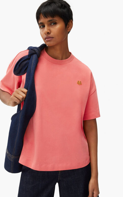 CORAL Tiger Crest boxy T-shirt for women KENZO