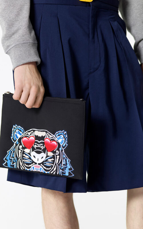 BLACK 'Valentine's Day Capsule' A4 Eye clutch for men KENZO