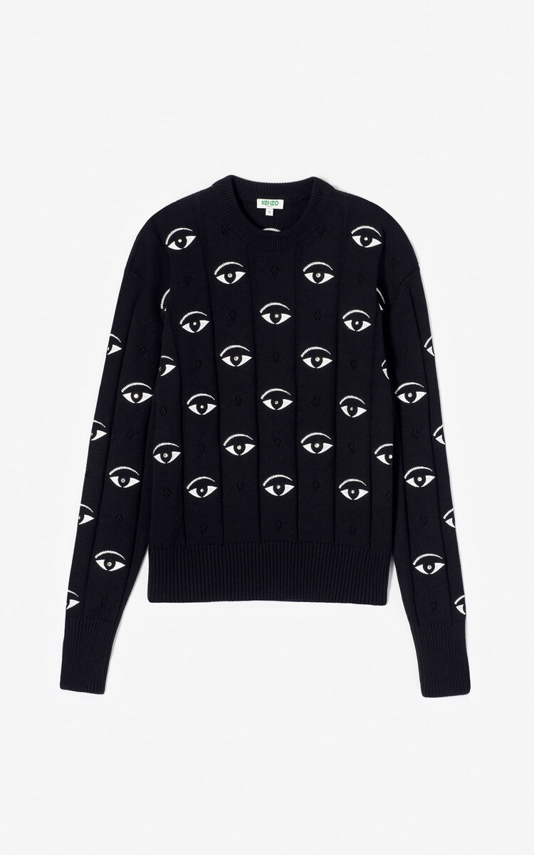 BLACK Multi-Eye jumper for women KENZO