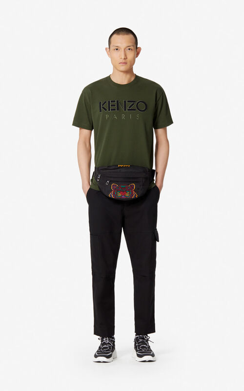 DARK KHAKI KENZO Paris T-shirt  for men