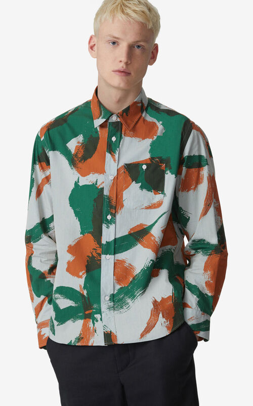 PAPRIKA 'Brushed Camo' casual shirt  for women KENZO