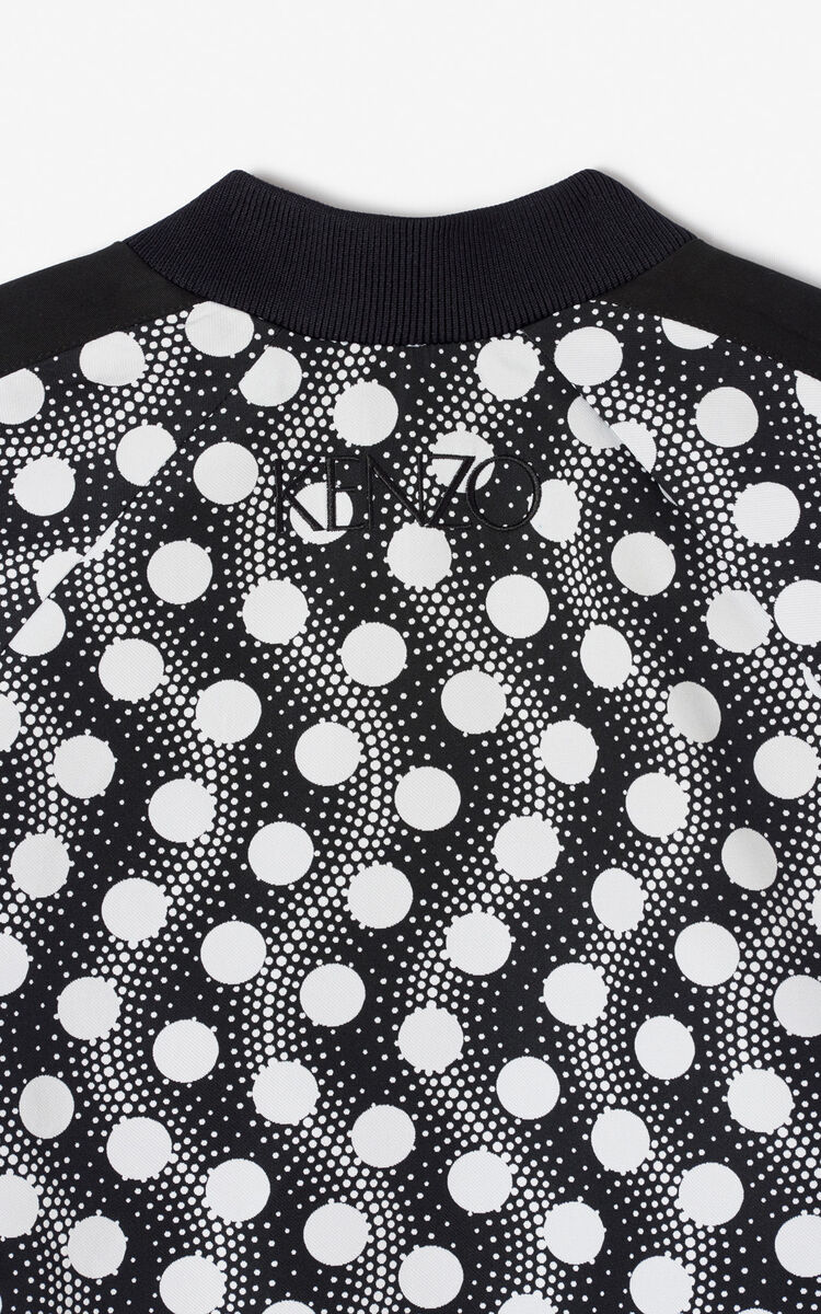 BLACK 'Wavy Dots' bomber jacket for women KENZO