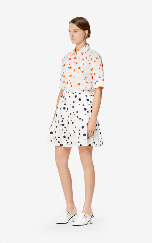 BLACK 'Dots' frilled skirt 'High Summer Capsule collection' for women KENZO