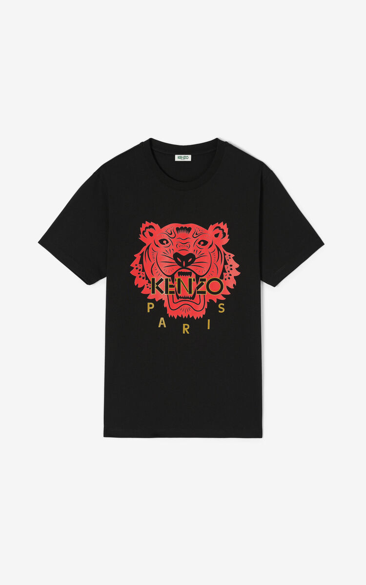 BLACK 'Chinese New Year Capsule' Tiger t-shirt for men KENZO