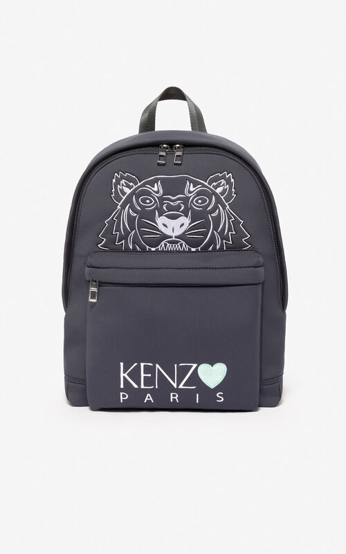 ANTHRACITE Large Tiger backpack 'Capsule Back from Holidays' for unisex KENZO