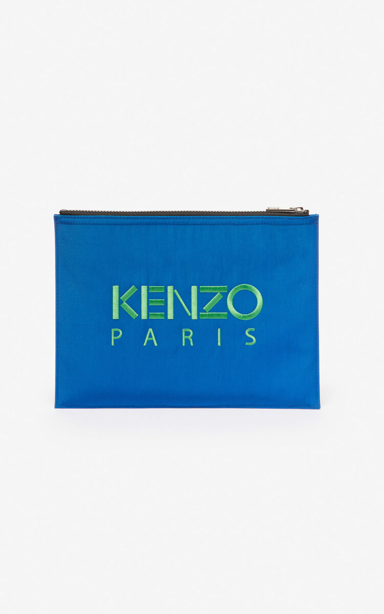 COBALT A4 Tiger Canvas clutch for unisex KENZO