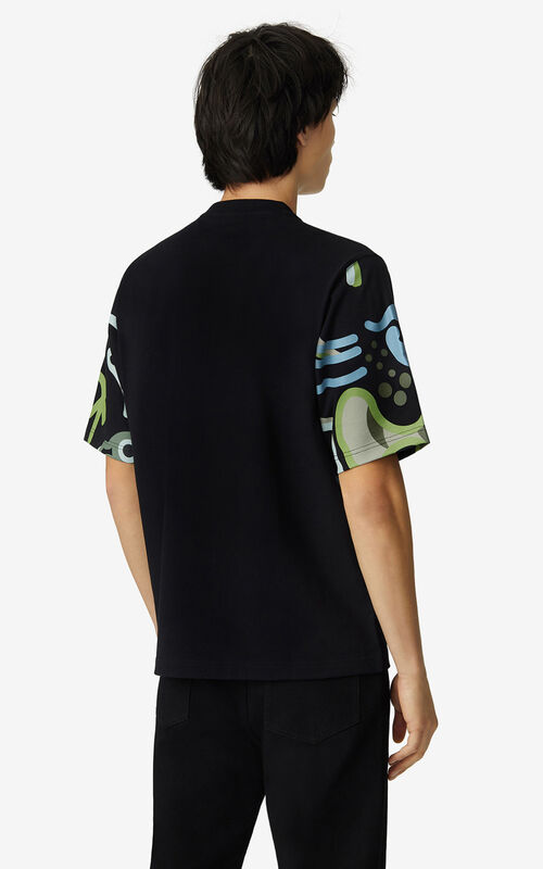 BLACK K-Tiger loose T-shirt for men KENZO