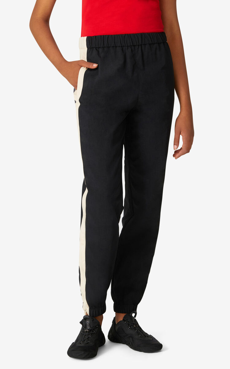 BLACK KENZO Sport jogging trousers for women
