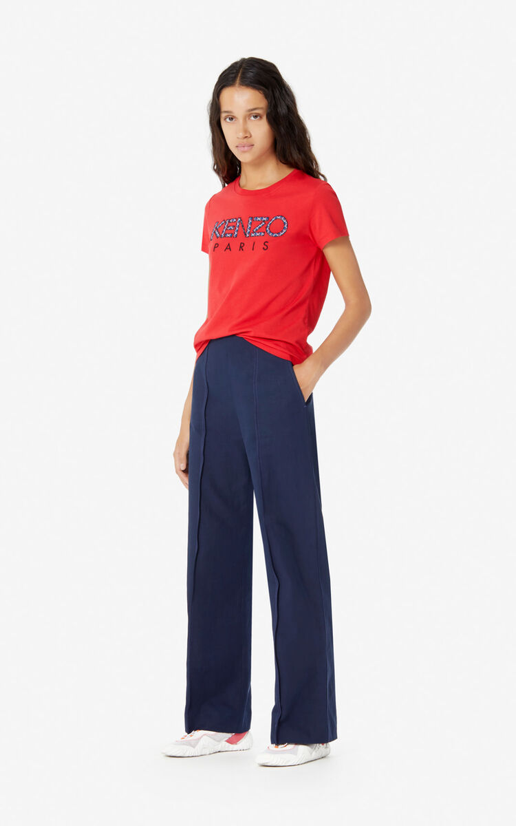 MEDIUM RED KENZO Paris 'Ikat' T-shirt for women