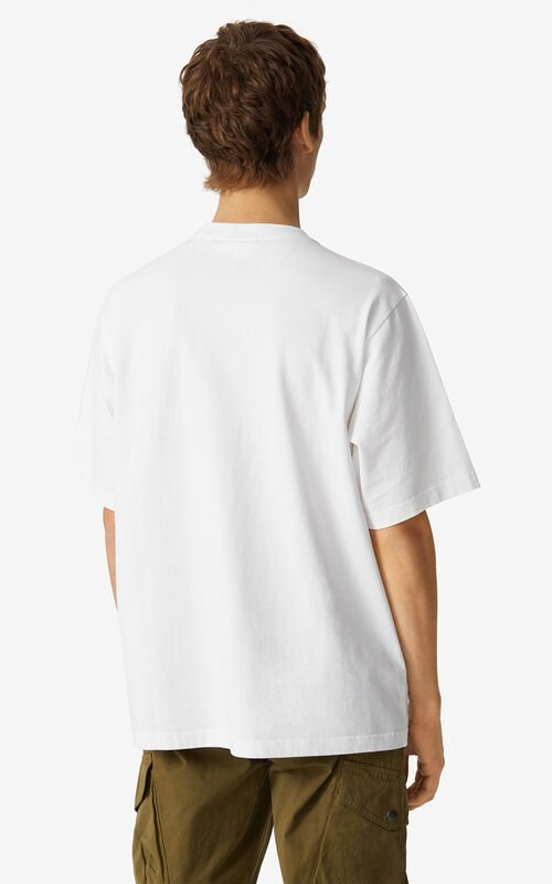 WHITE Tiger loose-fitting T-shirt for men KENZO