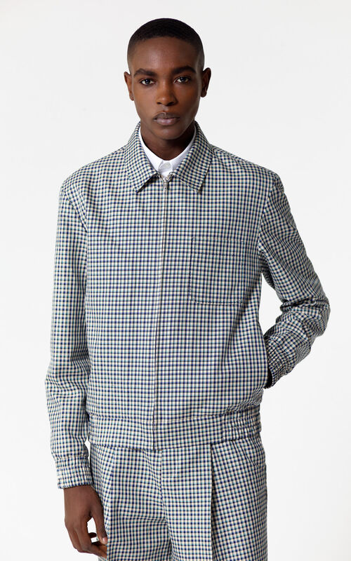 PERRIWINKLE Checked jacket for women KENZO