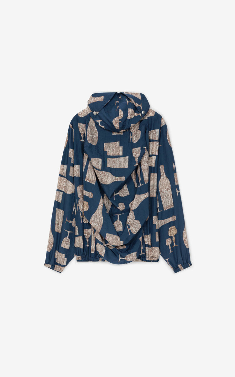 MIDNIGHT BLUE 'Cocktails' hooded jacket for women KENZO